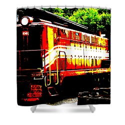 Abstract Train Engine  Shower Curtain by Mark Moore