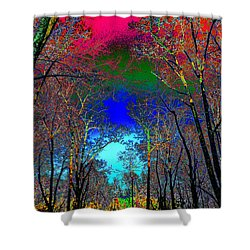 Abstract Trees Shower Curtain