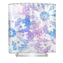 Abstract Vintage Lace Shower Curtain