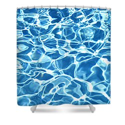 Abstract Water Shower Curtain by Tony Cordoza