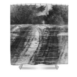 Abstract Winter Storm Shower Curtain by Thomas Young