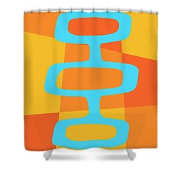 Abstract With Turquoise Pods 3 Shower Curtain