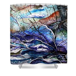Abstract Wolf Shower Curtain by Lil Taylor