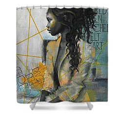 Abstract Women 004 Shower Curtain by Corporate Art Task Force