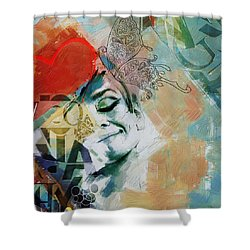 Abstract Women 008 Shower Curtain by Corporate Art Task Force