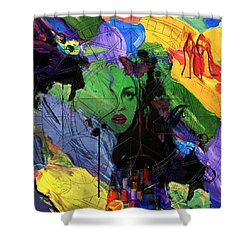Abstract Women 014 Shower Curtain by Corporate Art Task Force