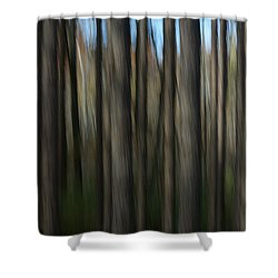 Abstract Woods Shower Curtain