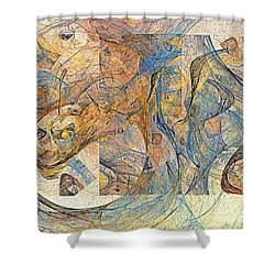 Abstraction 0499 Marucii Shower Curtain