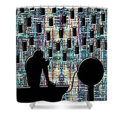 Abstraction 104 Shower Curtain by Patrick J Murphy
