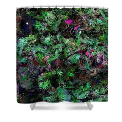 Abstraction 121514 Shower Curtain by David Lane