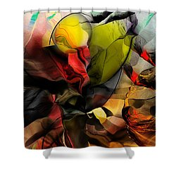Abstraction 122614 Shower Curtain by David Lane