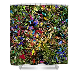 Abstraction 2 0211315 Shower Curtain by David Lane