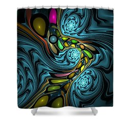 Abstraction 254-06-13 Marucii Shower Curtain