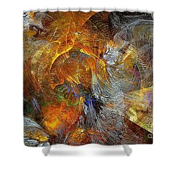 Abstraction 435-08-13  Marucii Shower Curtain