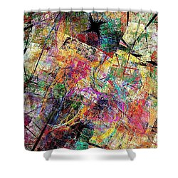 Abstraction 442-09-13 Marucii Shower Curtain