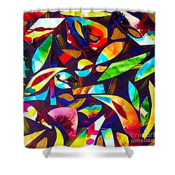 Abstraction And Colorful Thoughts Shower Curtain