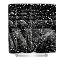 Abstraction Shower Curtain by Bobbie Barth