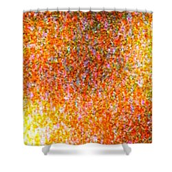 Abstraction In Time Shower Curtain