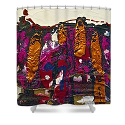 Abstracts 14 - The Deep Dark Woods Shower Curtain by Mario Perron