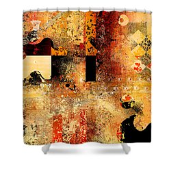 Abstracture - 103106046f Shower Curtain
