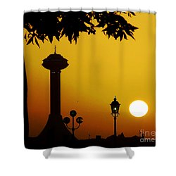 Shower Curtain featuring the photograph Abu Dhabi by Andrea Anderegg