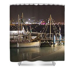 Shower Curtain featuring the photograph Abu Dhabi At Night by Andrea Anderegg