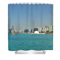 Abu Dhabi Skyline Shower Curtain