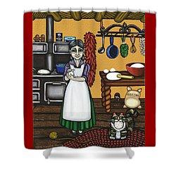 Abuelita Or Grandma Shower Curtain by Victoria De Almeida