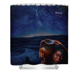 Abundance Shower Curtain by Ann Holder