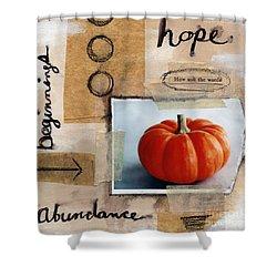 Abundance Shower Curtain by Linda Woods