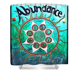 Abundance Money Magnet - Healing Art Shower Curtain