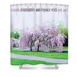 Shower Curtain featuring the photograph Abundant Blossom by Pamela Hyde Wilson
