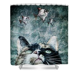 Shower Curtain featuring the photograph Abyss Cat Nr 2 by Laura Melis