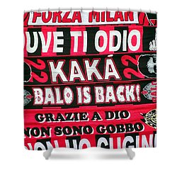 Ac Milan Fans Scarves  Shower Curtain