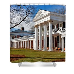 Academical Village At The University Of Virginia Shower Curtain