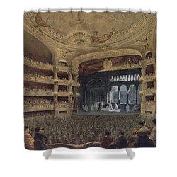 Academie Imperiale De Musique Paris Shower Curtain by Louis Jules Arnout