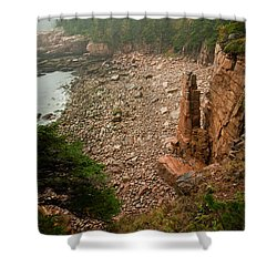 Acadia Fog At Monument Cove 4337 Shower Curtain by Brent L Ander