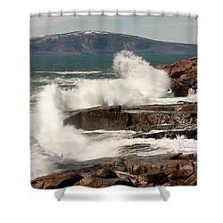 Acadia Waves 4198 Shower Curtain by Brent L Ander