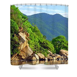Shower Curtain featuring the photograph Acapulco Lagoon by Jim Whalen