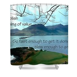 Accomplish Value 21168 Shower Curtain by Jerry Sodorff