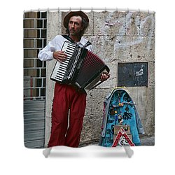 Accordian Player Shower Curtain