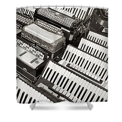 Accordions Shower Curtain
