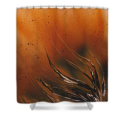 Shower Curtain featuring the painting Accumulation Plant by Jason Girard