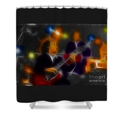 Acdc-angus-95-e5-fractal Shower Curtain by Gary Gingrich Galleries