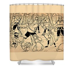 Shower Curtain featuring the painting Archery In Oxboar by Reynold Jay