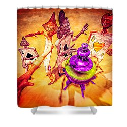 Aces High Shower Curtain by Bob Orsillo