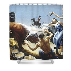 Achelous And Hercules Shower Curtain