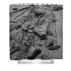 Achnahaird Beach Bw Shower Curtain