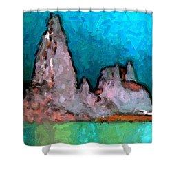 Acid Lake Shower Curtain
