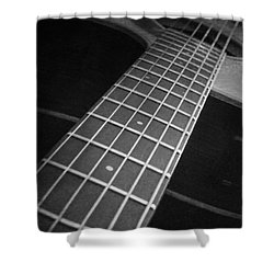 Acoustic Guitar Shower Curtain by Andrea Anderegg